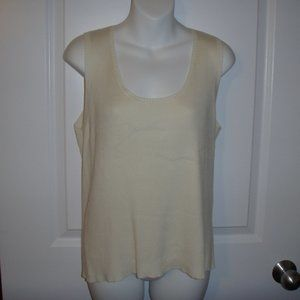 NWT Ivory Tank Charter Club Size Large